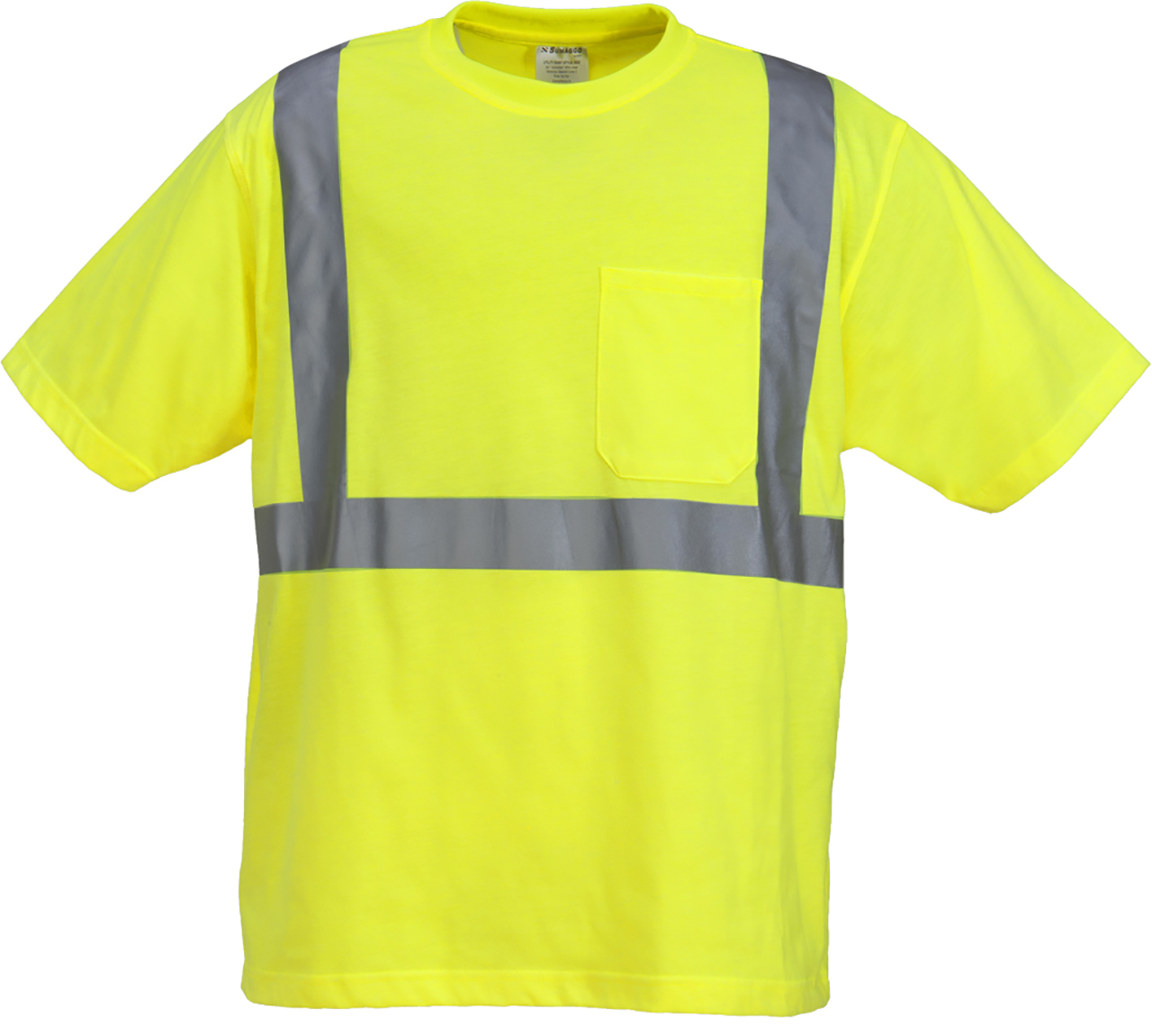 Picture of Sumaggo High Visibility Poly-Cotton Knitted Jersey T-Shirt W/ Pocket