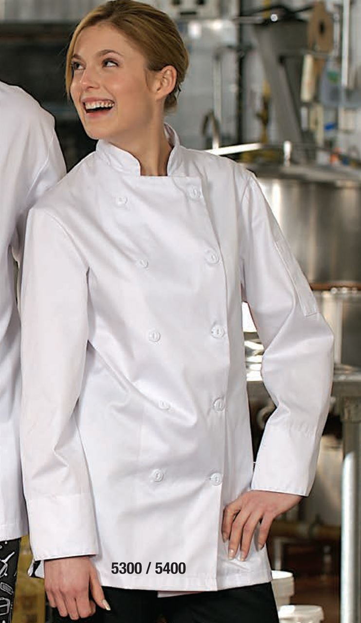Picture of Premium Uniforms 100% Cotton Chef Coat With Plastic Buttons