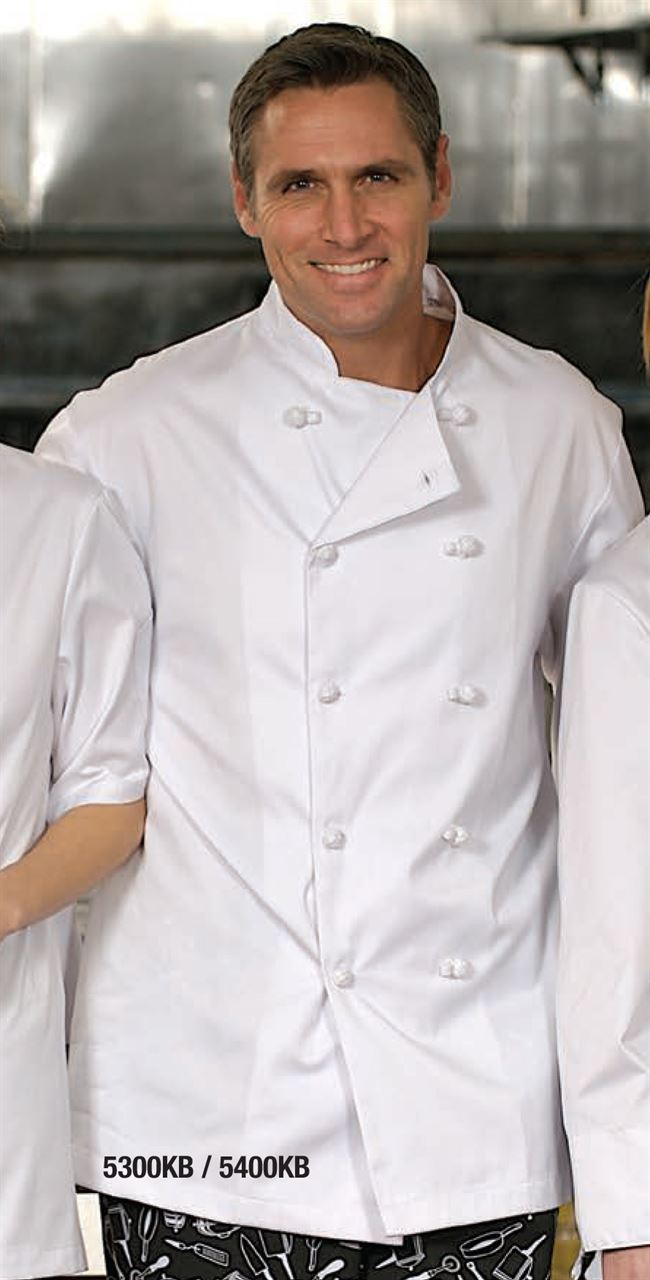 Picture of Premium Uniforms 100% Cotton Chef Coat With Knot Buttons