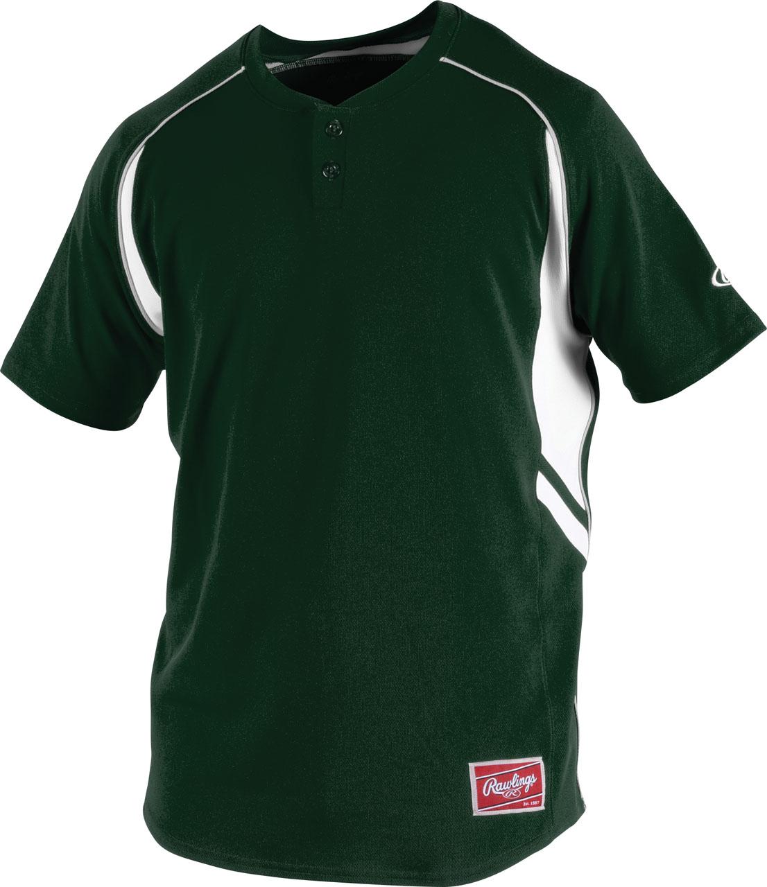Custom jersey t shirts rawlings men 39 s 2 button jersey for Baseball jersey t shirt custom