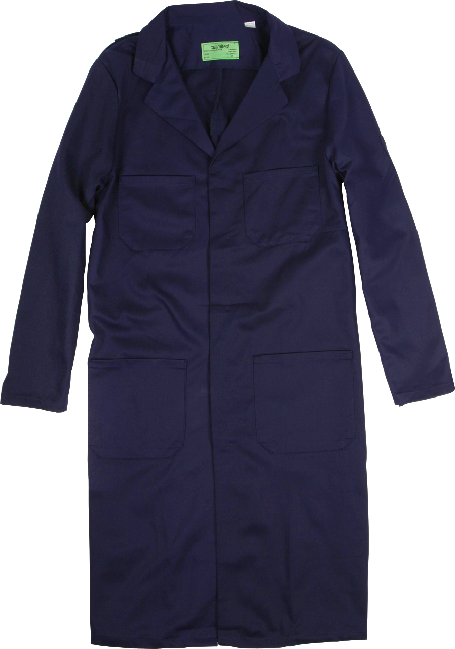 Picture of Premium Uniforms Cotton Shop Coat With 4-Pockets