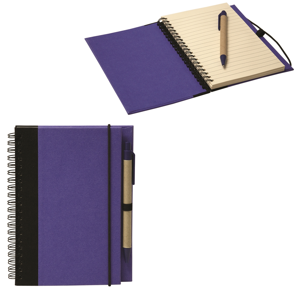 Picture of Spiral Recycled Cardboard Notebook