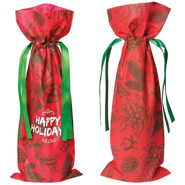 Picture of Holiday Non Woven Wine Bag