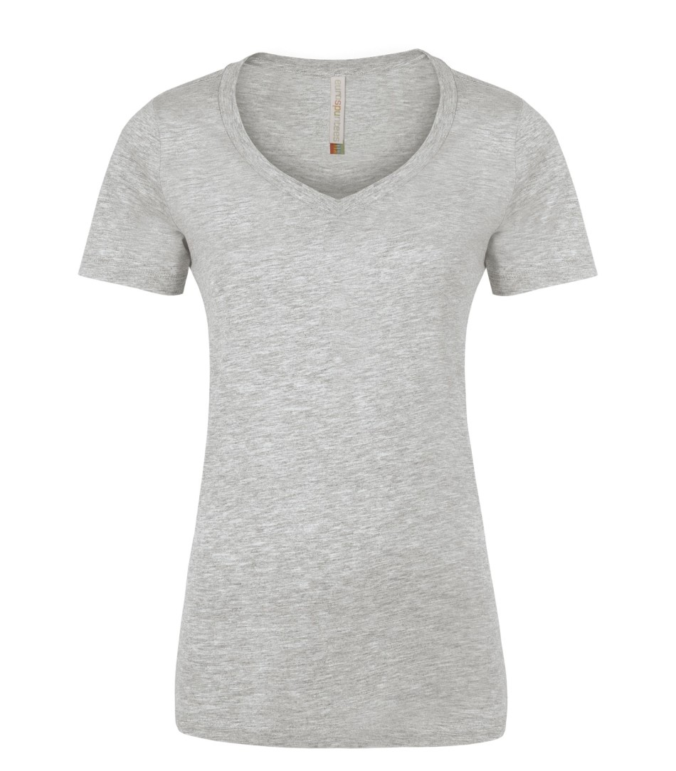 Picture of Eurospun Ring Spun V-Neck Ladies Tee
