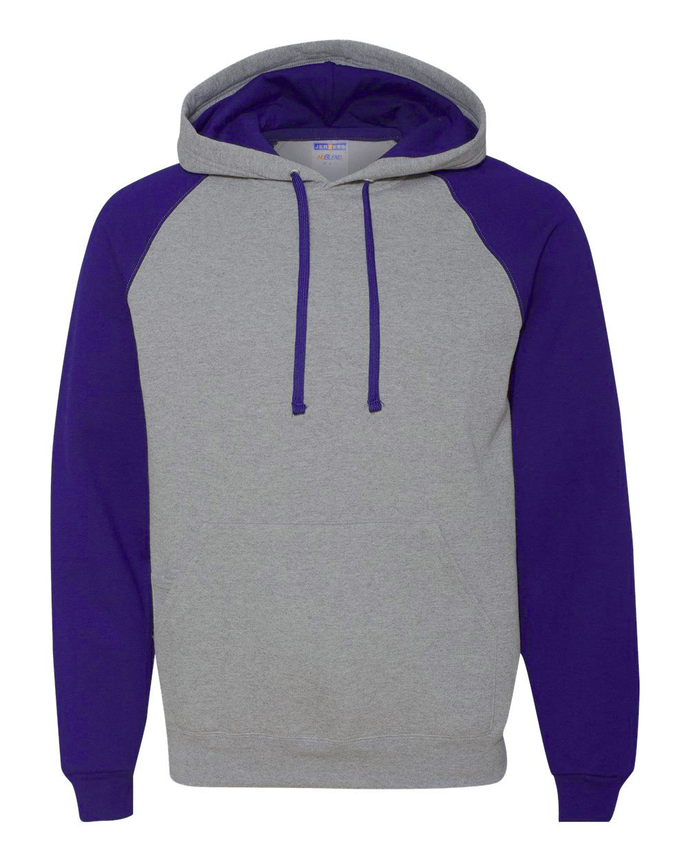 Picture of Jerzees Nublend Colour-Block Raglan Hooded Sweatshirt