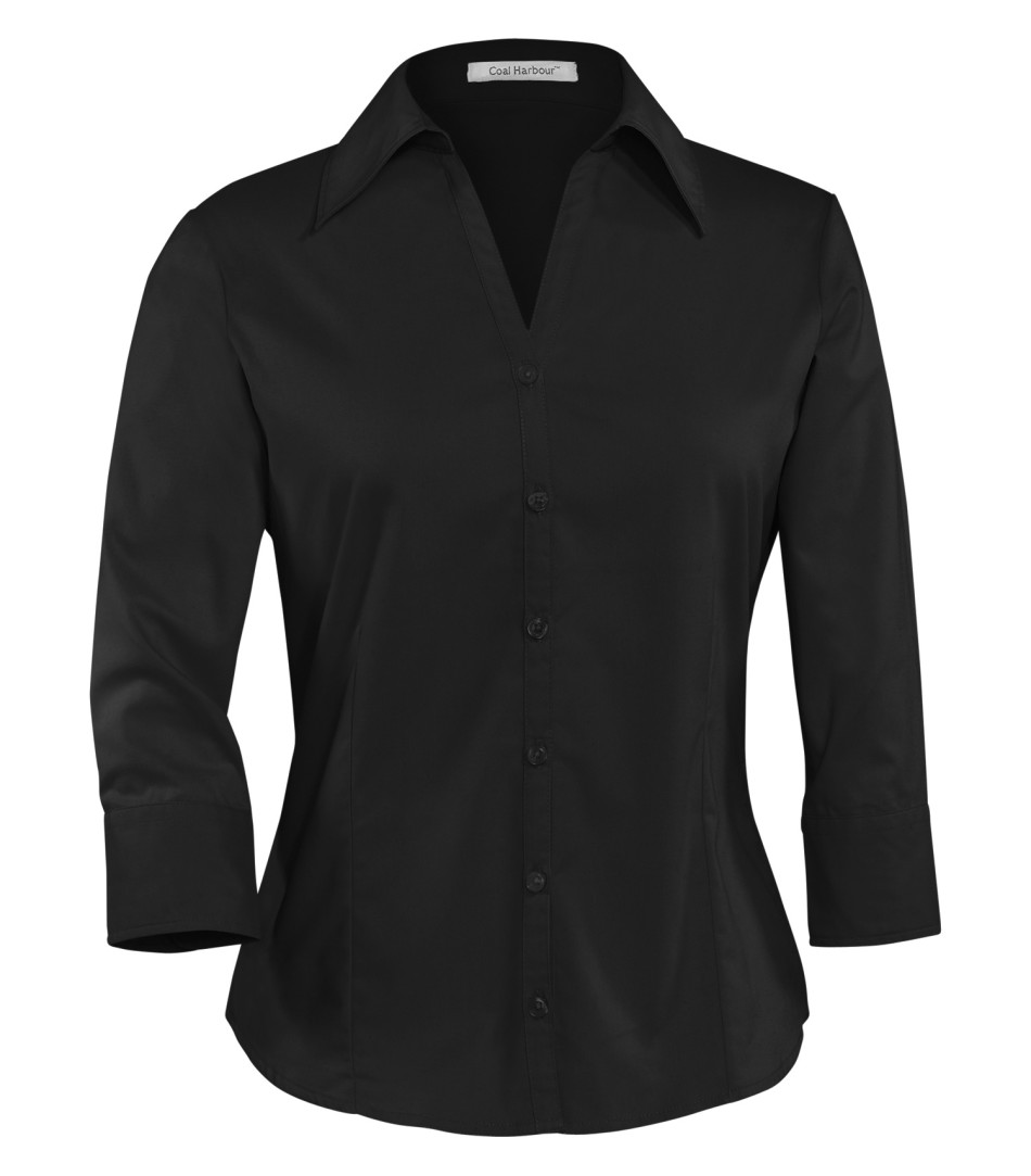 Picture of Coal Harbour Ladies Open-Neck 3/4 Sleeve Easy Care Shirt