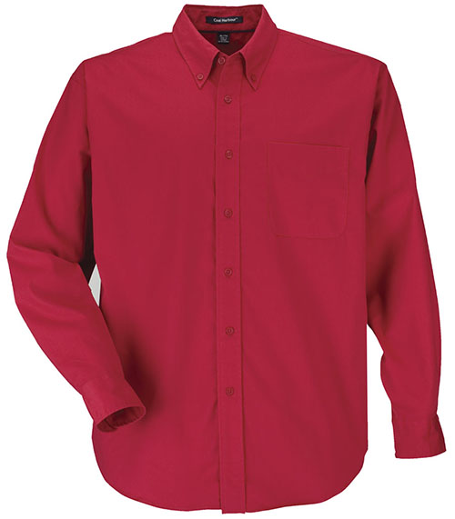 Red custom shirt with a collared style is Entripy's top pick for work wear.