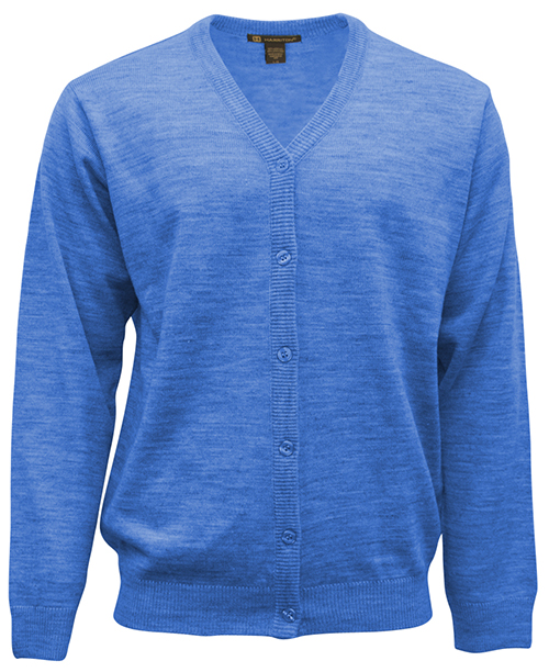 Entripy top work pick is a blue custom sweater that can be embroidered with customer's customized logo.