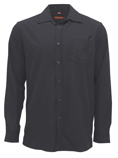 Entripy's top work pick for custom shirts. This black collard shirt is ideal to customize with logo for employees.
