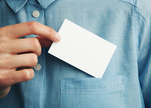 Business Cards can easily end up in trash while tshirts will live longer
