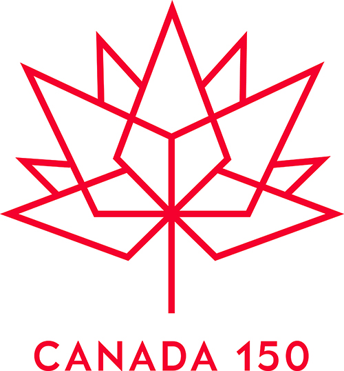 For Canada's 150th year, customers can print this logo on their custom apparel order.