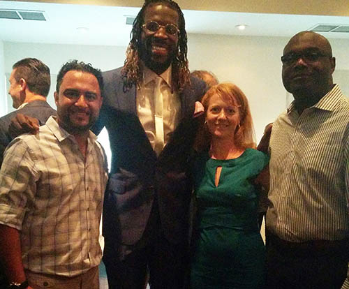Entripy employees at the charity event of Demarre Carroll's Family Foundation.