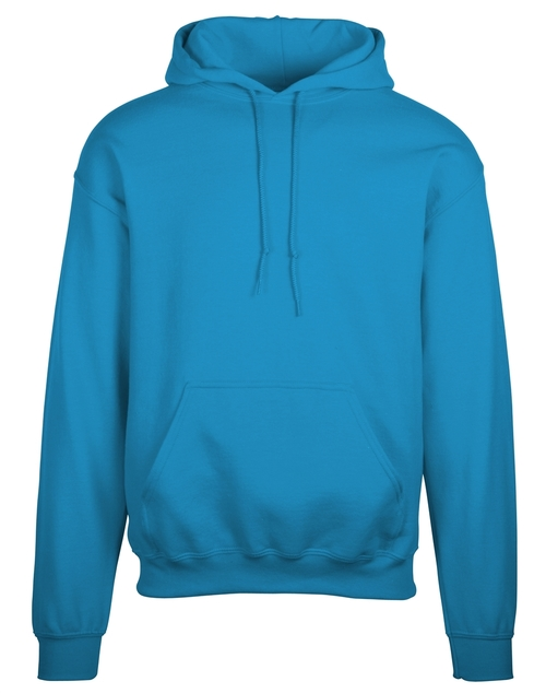 Popular Jerzees hooded custom sweatshirt with your logo embroidered for daily wear.