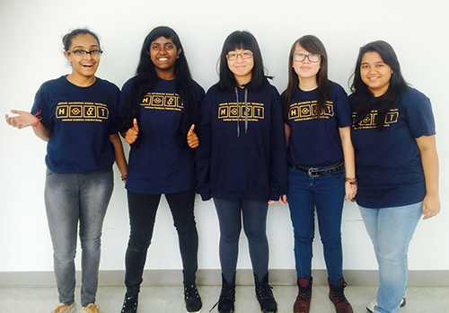 Custom t-shirts and custom sweatshirts worn by school student for their math club.