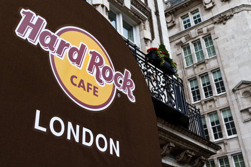 Hard rock cafes around the world are offering its custom promo items to its customers
