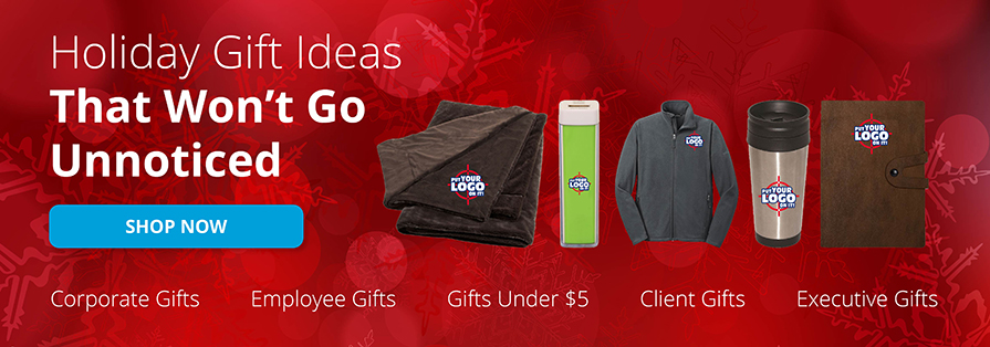 Entripy's holiday gift ideas for employees. From custom clothing to customized promotional products.