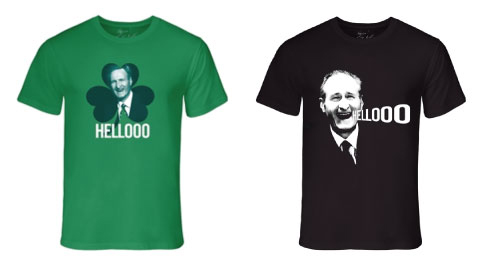 Jack Armstrong's custom printed t-shirts with his famous tone of saying Hello.