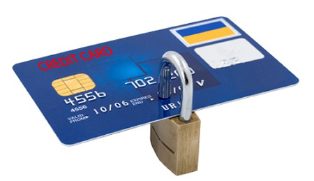 Credit card locked to imply custom apparel orders are safe and knowing how to keep online shopping safe.