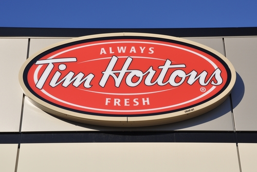 Tim hortons has an extensive line of minimalist inspired apparel