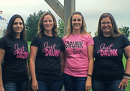 Bachelorette custom t-shirts for a group of girlfriends.