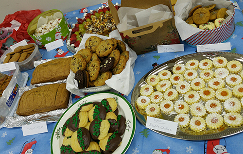 Entripy's baking cookie contest with festive goods for all employees.