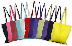 Colour matters! Colourful custom tote bags stand out with your company logo. Put your logo on it.