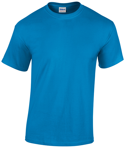 Blue Gildan custom t-shirt, a customer favourite for printing custom designs.