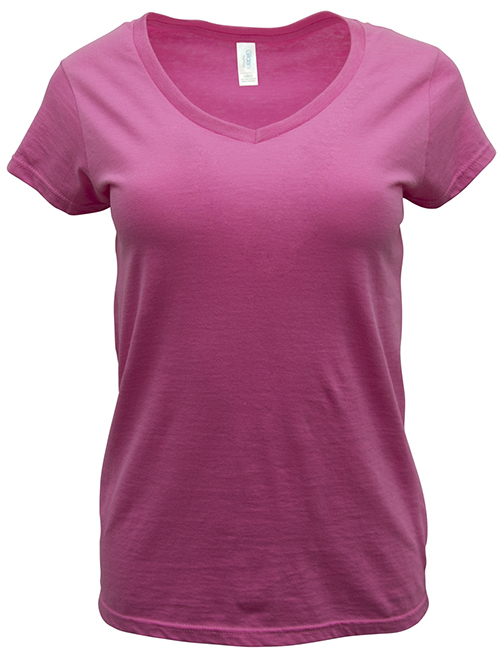 Ladies Gildan custom t-shirt, a v-neck style for everyday wear.