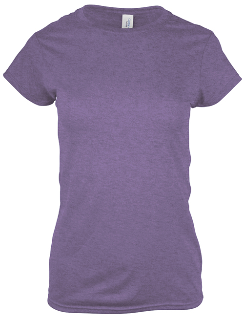 Ladies Gildan customized t-shirt, a fitted style that can be worn for comfort.