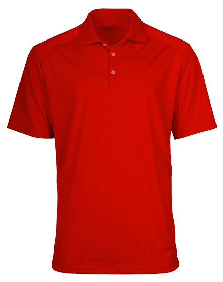 Displaying staff picked polo shirt as the favourite for custom apparel with company logo.