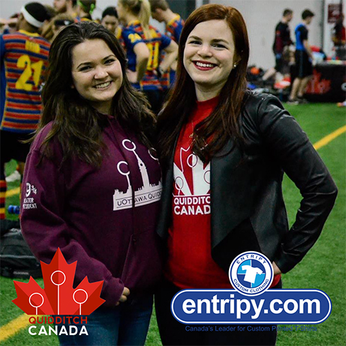 Entripy and Quidditch Canada confirmed partnership as the official custom clothing supplier.