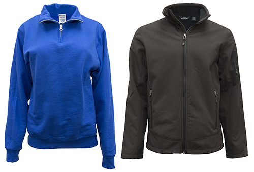 Top picked custom apparel for holiday corporate gifts is the custom sweatshirt & jacket.