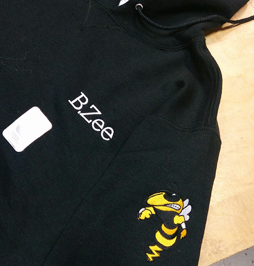 Custom sweatshirt embroidered with logo 