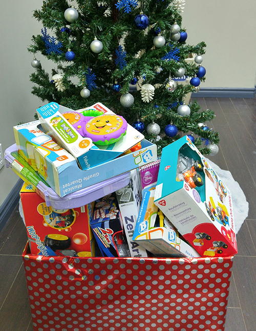 Charity Toys For Tots is the organization Entripy has collected toys for.