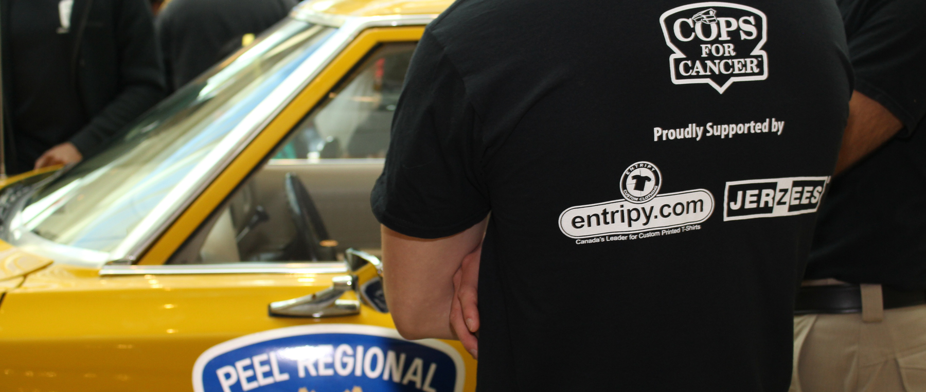 Entripy working with not-for-profit organization printing custom t-shirts to raise funds for cancer research.