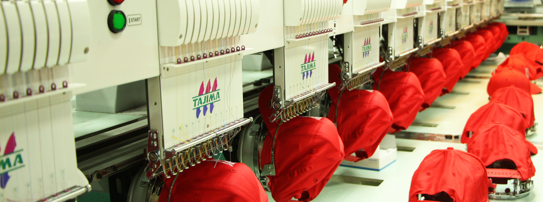 Most leading edge automated screen printing and embroidery equipment for decorating custom t-shirts