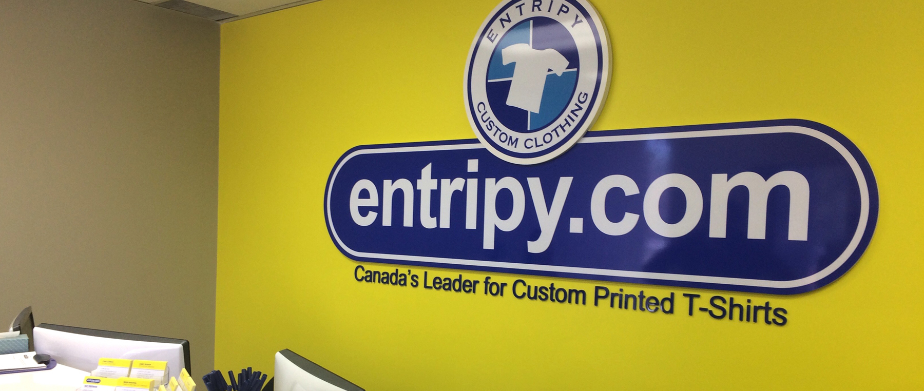 Entripy is an in-house facility with screen printing machines for custom t-shirts.